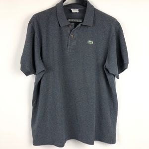 Lacoste Patchwork Classic Fit polo grey shirt